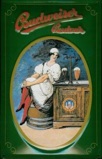 Blechschild Budweiser Beer Schild Budvar (1) Bier Schild retro Nostalgieschild