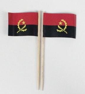 Party-Picker Flagge Angola Afrika Papierfähnchen in Spitzenqualität 50 Stück ...
