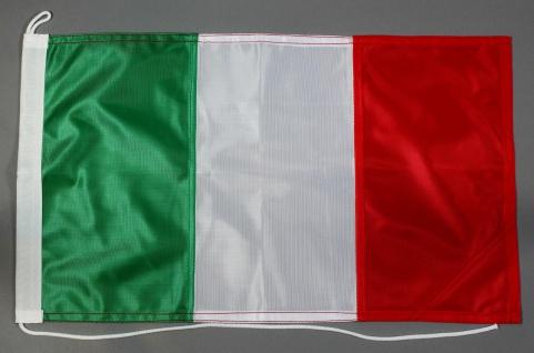 Bootsflagge Italien 30x45 cm Motorradflagge Bootsfahne