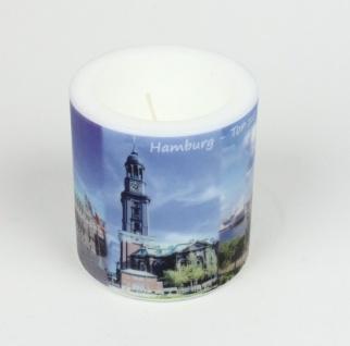 Stadtkerze Hamburg - Das Tor zur Welt Kerze Windlicht Licht Souvenir HH