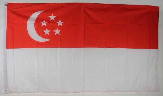 Flagge Fahne : Singapur Nationalflagge Nationalfahne