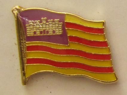 Pin Anstecker Flagge Fahne Balearen Flaggenpin Button Badge Flaggen Clip Anst...