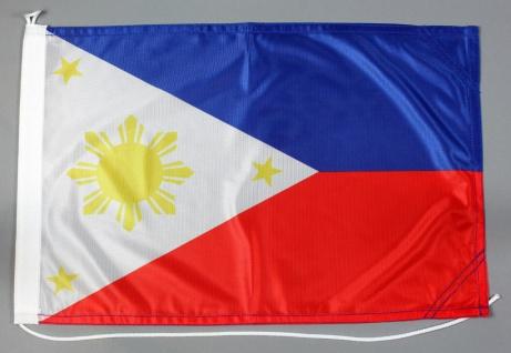 Bootsflagge Philippinen 30x45 cm Motorradflagge Bootsfahne