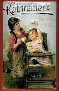 Blechschild Kathreiner Kneipp Malz Kaffee Kinderstuhl Schild Werbeschild