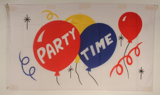 Party Flagge Großformat 250 x 150 cm wetterfest