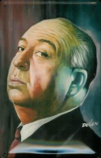 Blechschild Alfred Hitchcock Werbeschild Schild Nostalgieschild