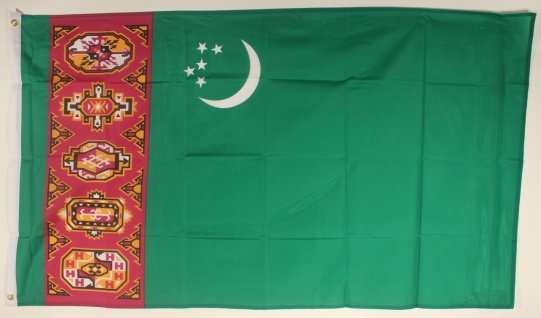 Flagge Fahne : Turkmenistan Nationalflagge Nationalfahne