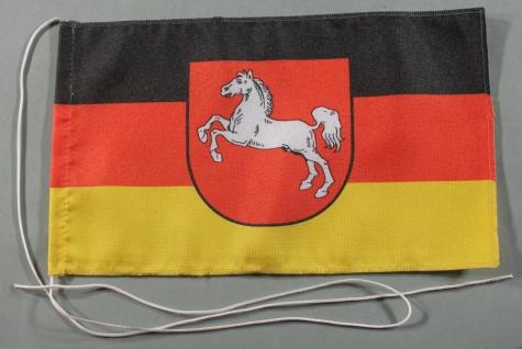 Tischflagge Niedersachsen 25x15 cm optional mit Holz- oder Chromständer Tisch...
