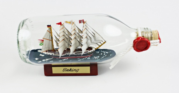 Peking runde Flasche 0, 3 Liter Buddelschiff Flaschenschiff