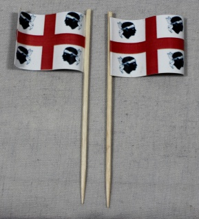 Party-Picker Flagge Sardinien Italien Papierfähnchen in Spitzenqualität 50 St...
