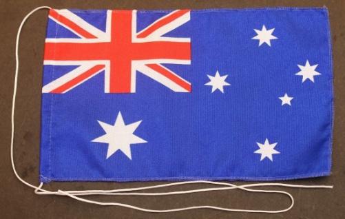 Tischflagge Australien 25x15 cm optional mit Holz- oder Chromständer Tischfah...