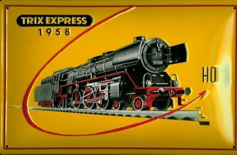 Blechschild Trix Express Modelleisenbahn Dampflok Eisenbahn Schild Nostalgies...