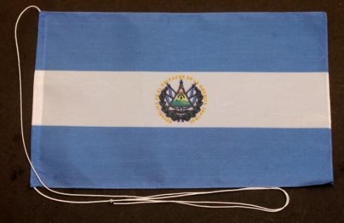 Tischflagge El Salvador 25x15 cm optional mit Holz- oder Chromständer Tischfa...