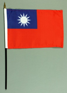 Tischflagge Taiwan 15x25 cm BASIC optional mit Tischflaggenständer