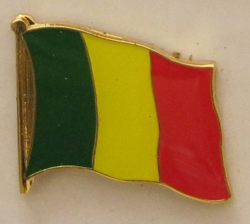 Mali Pin Anstecker Flagge Fahne Nationalflagge