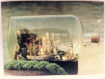 Buddelschiff - Postkarte ec01