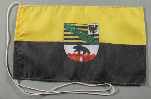 Tischflagge Sachsen Anhalt 25x15 cm optional mit Holz- oder Chromständer Tisc...