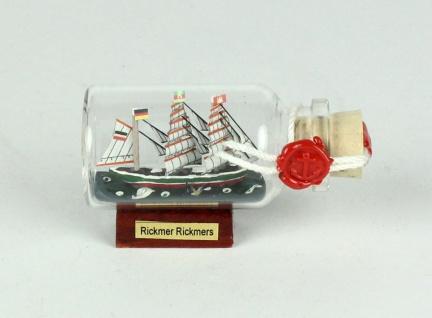 Rickmer Rickmers Mini Buddelschiff 10 ml 6x3, 5 cm Flaschenschiff