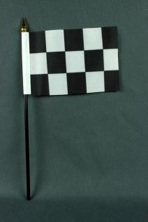 Kleine Tischflagge Zielflagge Motorsport 10x15 cm optional mit Tischfähnchens...