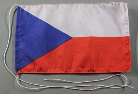 Tischflagge Tschechien 25x15 cm optional mit Holz- oder Chromständer Tischfah...