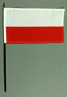 Tischflagge Polen 15x25 cm BASIC optional mit Tischflaggenständer