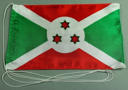 Tischflagge Burundi 25x15 cm optional mit Holz- oder Chromständer Tischfahne ...
