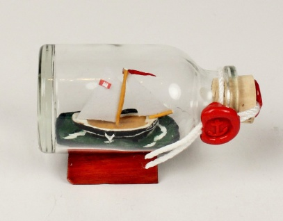 1-Mastschoner Jane Mini Buddelschiff 20 ml 5, 3x3 cm Flaschenschiff