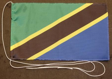 Tischflagge Tansania 25x15 cm optional mit Holz- oder Chromständer Tischfahne...