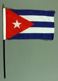 Tischflagge Kuba 15x25 cm BASIC optional mit Tischflaggenständer