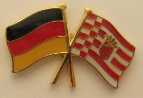 Bremen / Deutschland Freundschafts Pin Anstecker Flagge Fahne Nationalflagge