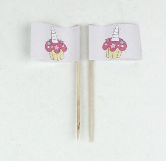 Party-Picker Flagge Cupcake Muffin Einhorn Papierfähnchen in Spitzenqualität ...