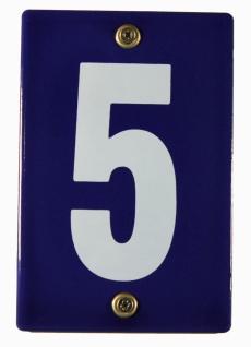 Hausnummernschild 5 Emaille Hausnummer Schild 12x8 cm Haus Nummer Zahl Ziffer...