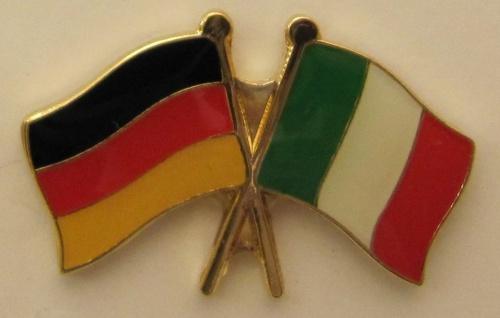 Italien / Deutschland Freundschafts Pin Anstecker Flagge Fahne Nationalflagge