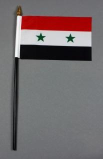 Kleine Tischflagge Syrien 10x15 cm optional mit Tischfähnchenständer