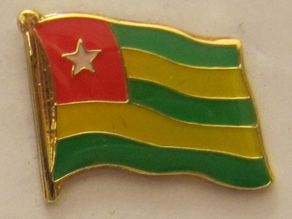 Togo Pin Anstecker Flagge Fahne Nationalflagge