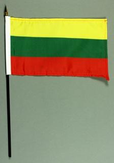 Tischflagge Litauen 15x25 cm BASIC optional mit Tischflaggenständer