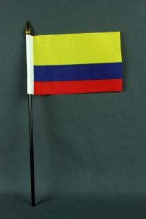 Kleine Tischflagge Kolumbien 10x15 cm optional mit Tischfähnchenständer