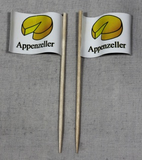 Party-Picker Flagge Appenzeller Käse Papierfähnchen in Spitzenqualität 50 Stü...