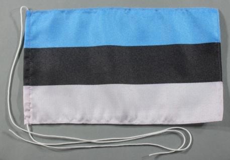 Tischflagge Estland 25x15 cm optional mit Holz- oder Chromständer Tischfahne ...