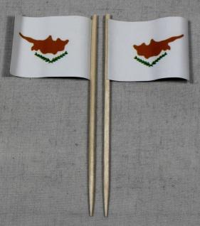 Party-Picker Flagge Zypern Papierfähnchen in Spitzenqualität 50 Stück Beutel