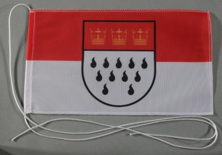 Tischflagge Köln Stadtflagge 25x15 cm optional mit Holz- oder Chromständer Ti...