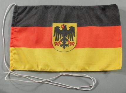 Tischflagge Deutschland Dienstflagge Adler 25x15 cm optional mit Holz- oder C...