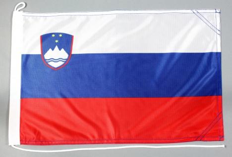 Bootsflagge Slowenien 30x45 cm Motorradflagge Bootsfahne