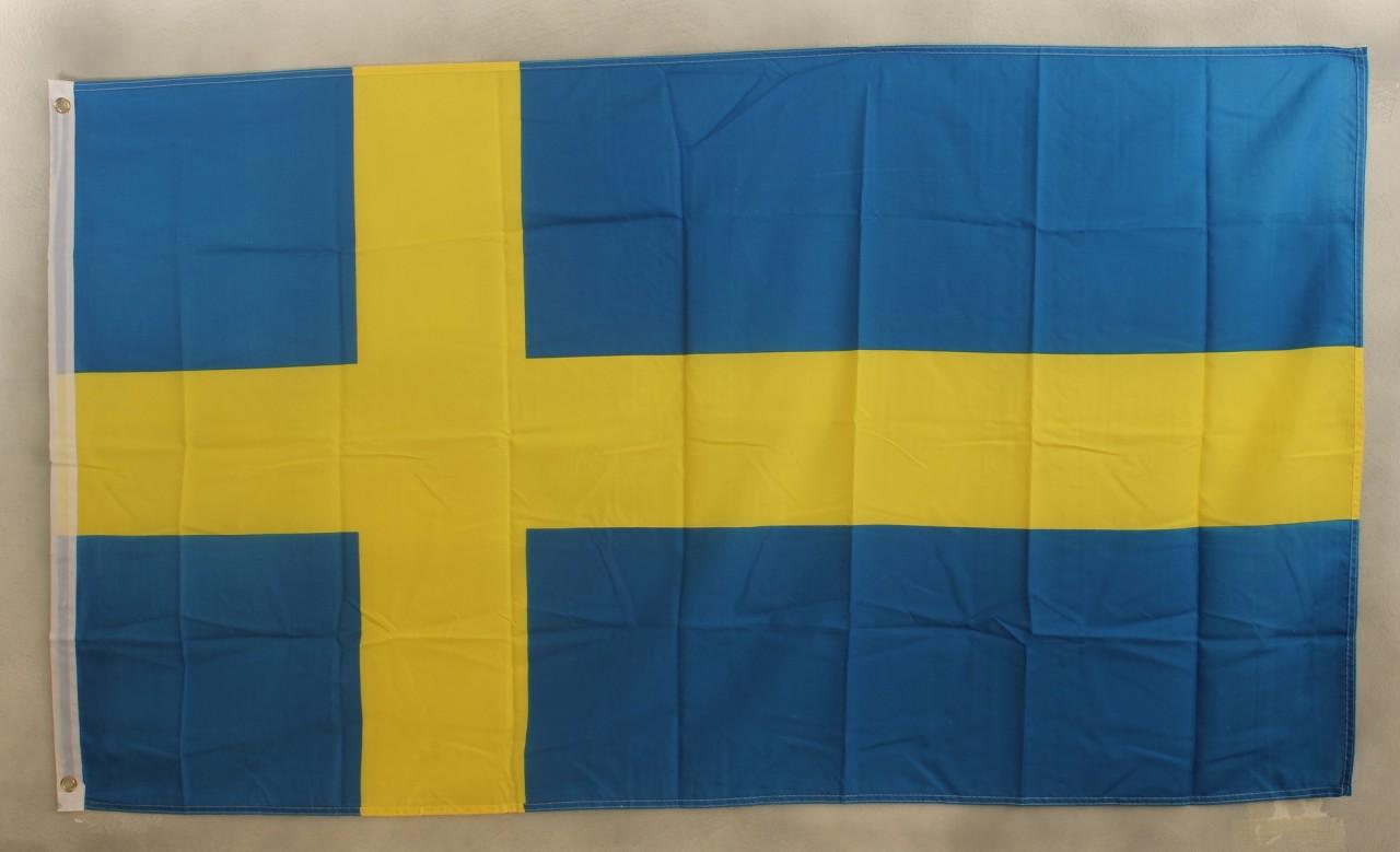 schweden flagge gro format 250 x 150 cm wetterfest kaufen bei buddel bini. Black Bedroom Furniture Sets. Home Design Ideas