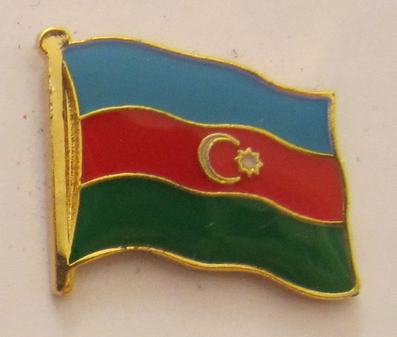 Flaggen-Pin//Anstecker Aserbaidschan vergoldet