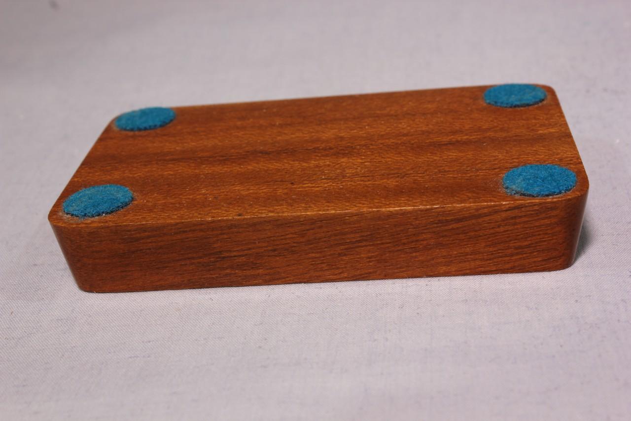 tischflaggenständer - sockel 2-fach holz mahagoni - farben für basic