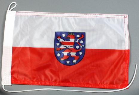 Bootsflagge : Thüringen 30x20 cm Motorradflagge