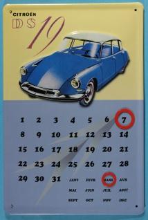 Blechschild Citroen DS 19 Magnet Kalender Nostalgieschild Schild Dauerkalender - Vorschau