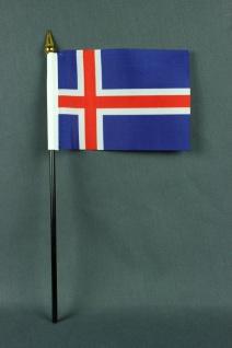 Kleine Tischflagge Island 10x15 cm optional mit Tischfähnchenständer