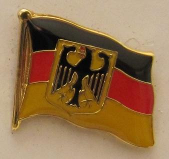 Pin Anstecker Flagge Fahne Deutschland Dienstflagge Staatsflagge Adler Flagge...
